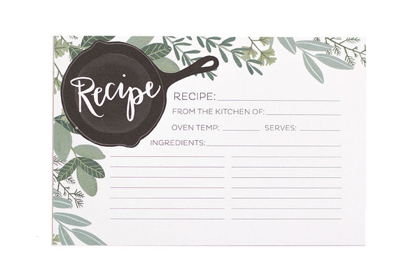 onecanoetwo Herb Skillet Recipe Cards Light 15pk - Ship Chic