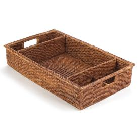 Napa Home and Garden Rattan Dinnerware Caddy - Ship Chic