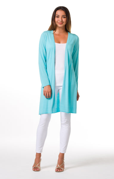 Tori Richard Island Toppers Alba Duster - Turquoise - Ship Chic