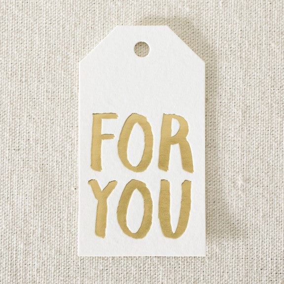 Die-cut tags Gold For You