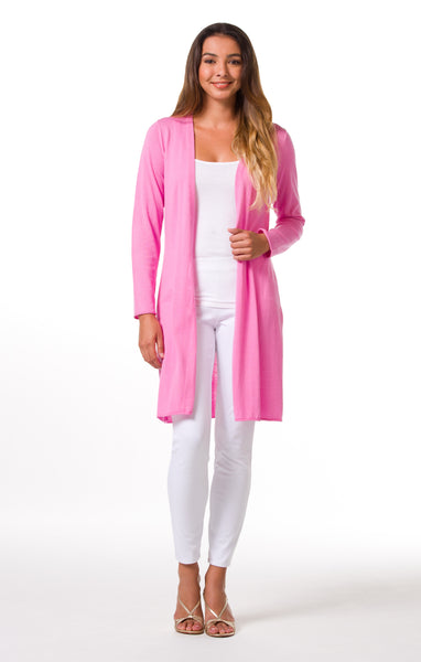 Tori Richard Island Toppers Alba Duster - Pink - Ship Chic