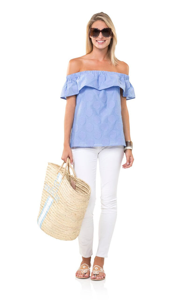Sail to Sable Feeling Hot in Hydrangea Top - Ship Chic
