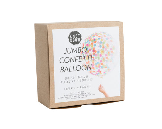 Knot & Bow Jumbo Confetti Balloon: Assorted - Ship Chic