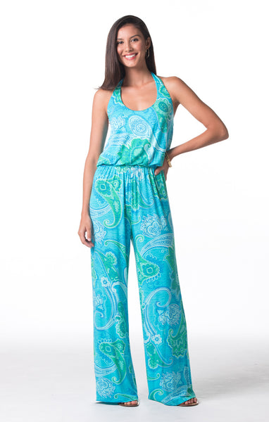 Tori Richard Don't Be Blue Baily Jumpsuit - Ship Chic