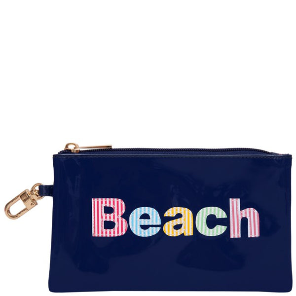 Lolo Navy Laura Case w/ Multi Colored Stripe Beach - Ship Chic