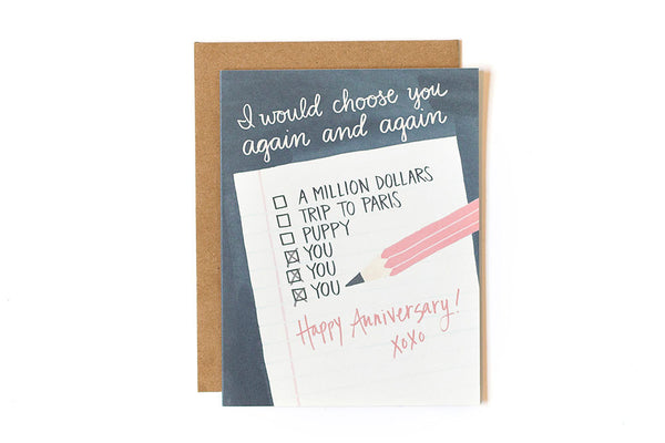 onecanoetwo Anniversary Note Card - Ship Chic