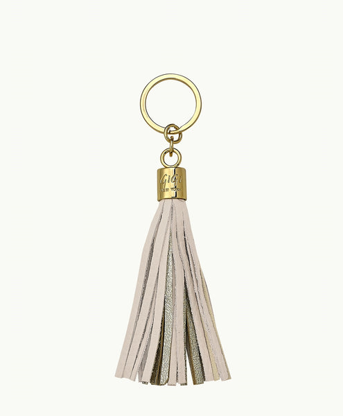 GiGi New York Tassel Key Chain - Bone and Gold - Ship Chic