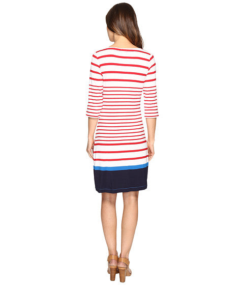 Hatley Red Sail Stripe - Peplum Sleeve Dress - Ship Chic