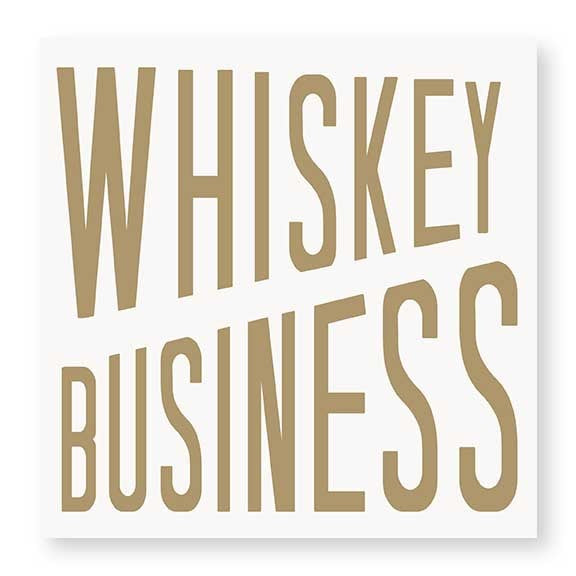 CR Gibson Whiskey Business Napkin - Ship Chic