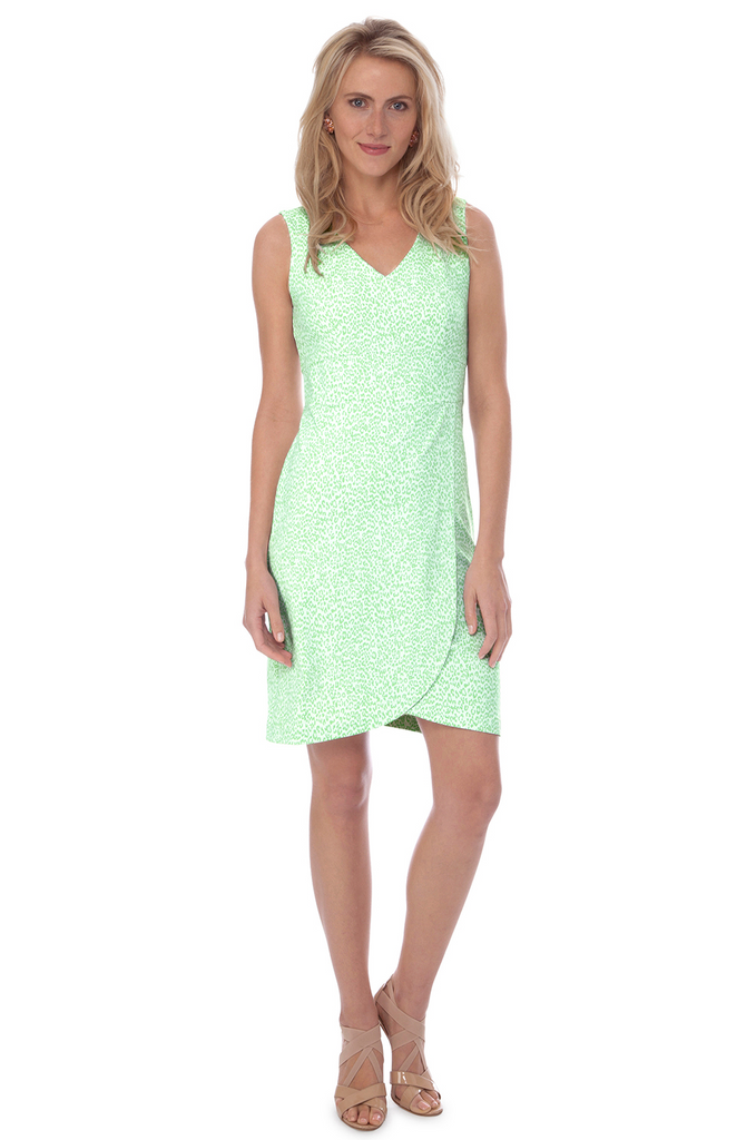 Persifor Gwen Dress - Spot in Pistachio - Ship Chic