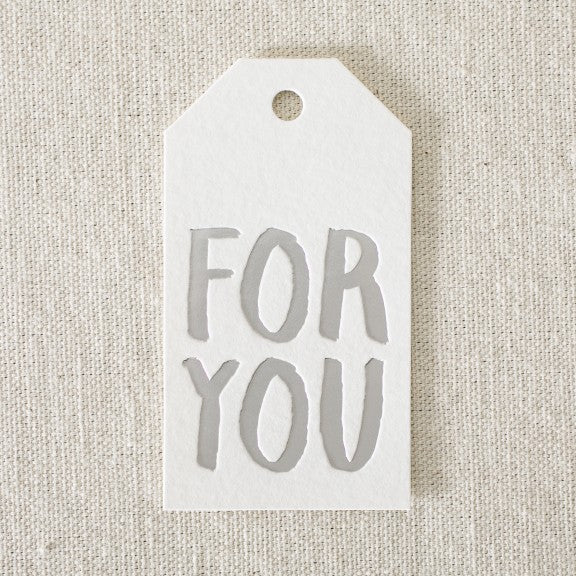 Smock Die-cut tags Silver For You - Ship Chic
