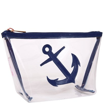 Lolo Clear Medium Avery with New Navy Anchor - Ship Chic
