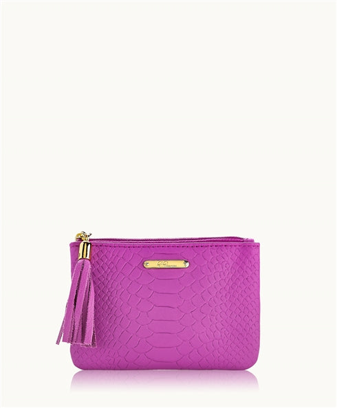GiGi New York Zip Pouch in Orchid - Ship Chic