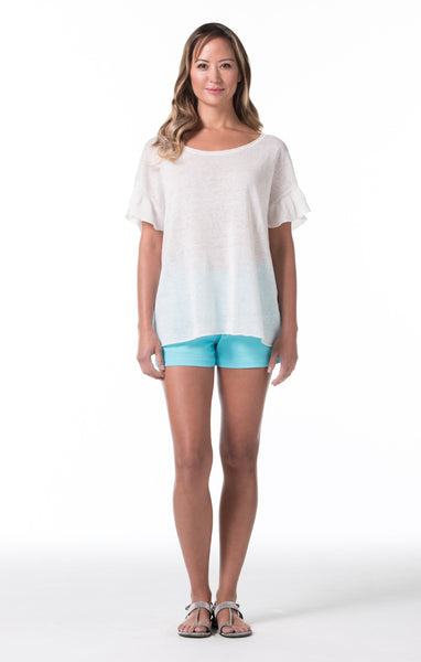 Santorini Marie Top - White