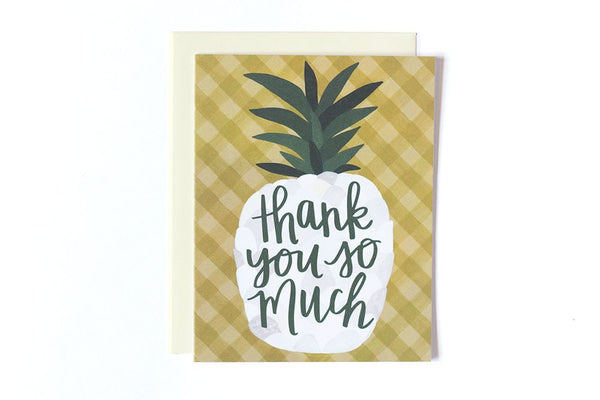 onecanoetwo Pineapple Thank You - Ship Chic