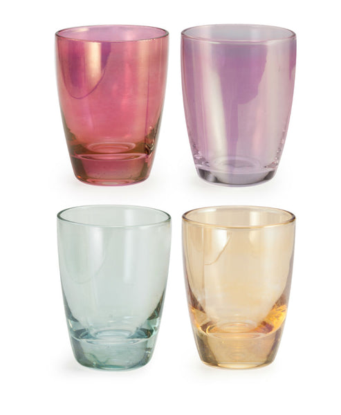 Rosanna Chez Elle Shot Luster Glass S/4 - Ship Chic