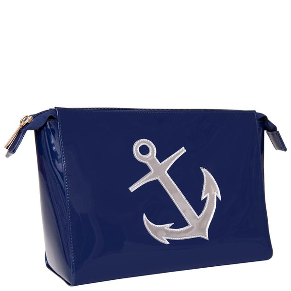 Lolo New Navy Small Betty with Shiny Silver Anchor - Ship Chic