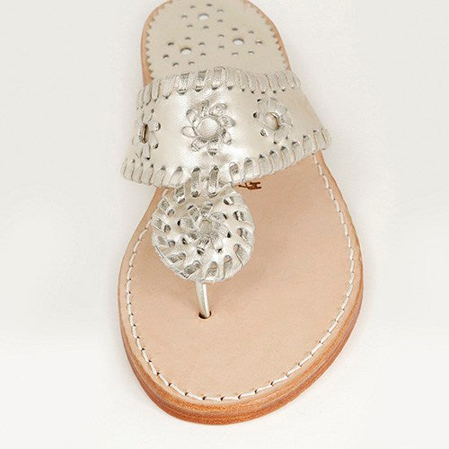 Palm Beach Sandals Classic Platinum/Platinum - Ship Chic