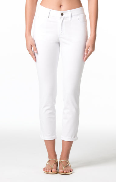 Tori Richard Denim Twill Ginger Jeans - White - Ship Chic