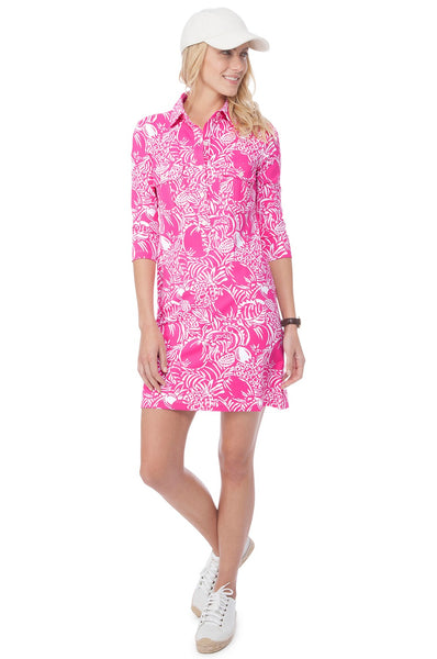 Persifor Winpenny Dress - Annanas in Hibiscus - Ship Chic