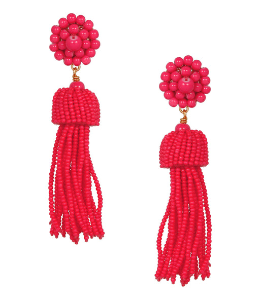 Tassel Earrings - Miss Pink