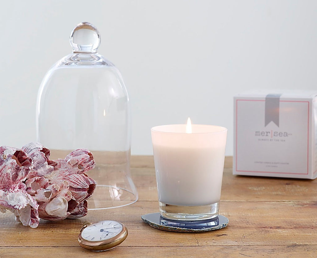 Mer-Sea Saltaire Boxed Candle & Agate Coaster - Ship Chic