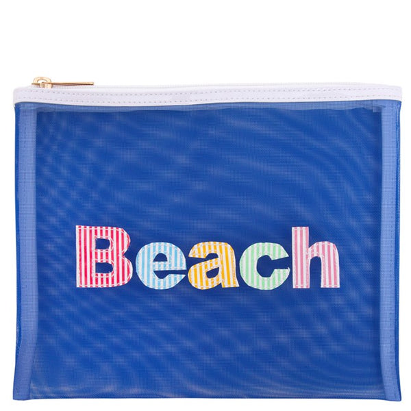 Lolo Navy Mesh Stanley w/ Multi Colored Stripe Beach - Ship Chic