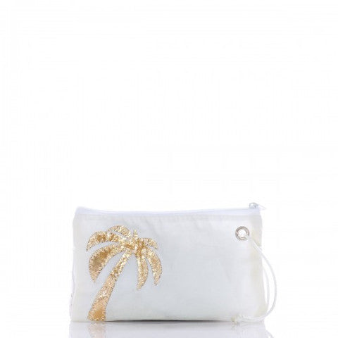 Seabags Gold Palm Tree Wristlet - Ship Chic