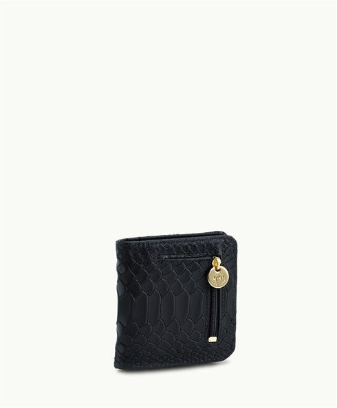 GiGi New York Mini Foldover Wallet in Black - Ship Chic