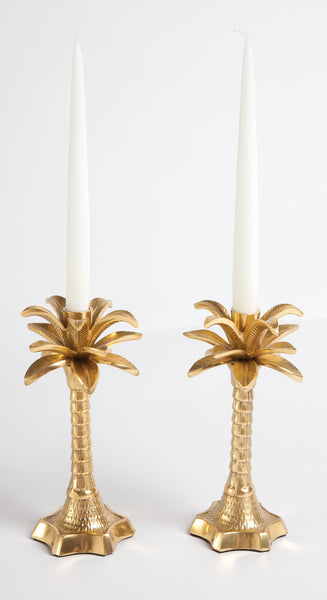 Single Palm Leaf Candle Holder