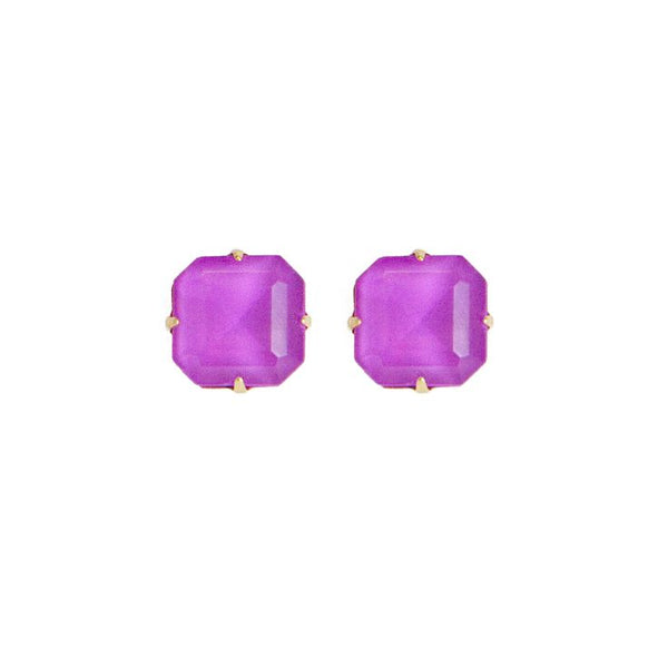Loren Hope Sophia Studs - Electric Purple - Ship Chic