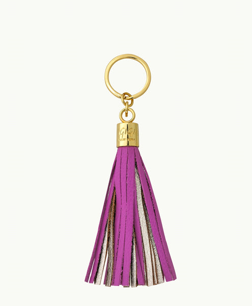 GiGi New York Tassel Key Chain - Orchid and Gold - Ship Chic