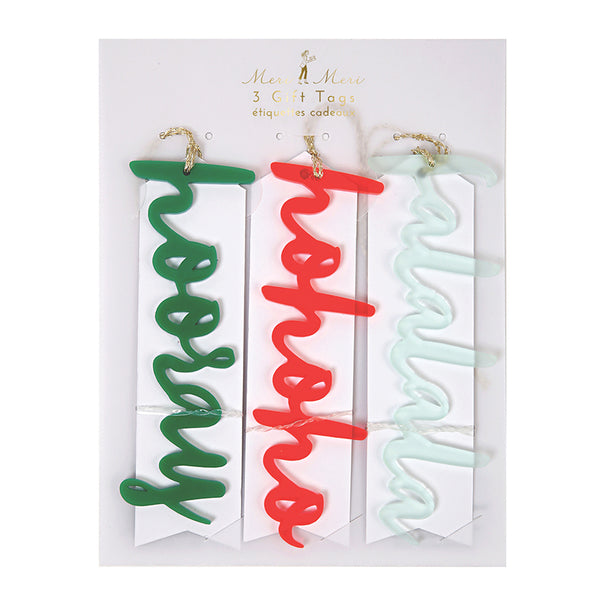 Meri Meri Acrylic Words Tag Set - Ship Chic