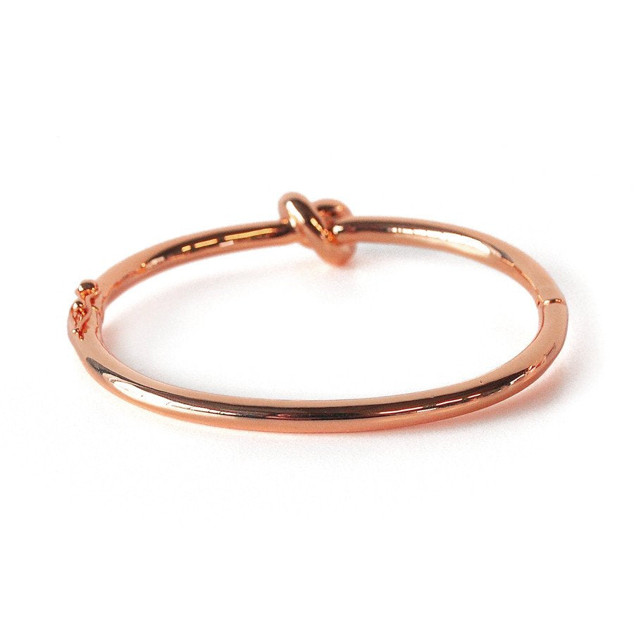 Wanderlust + Co Knot Rose Gold Bangle - Ship Chic