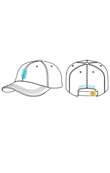 Pineapple Blair Hat - White