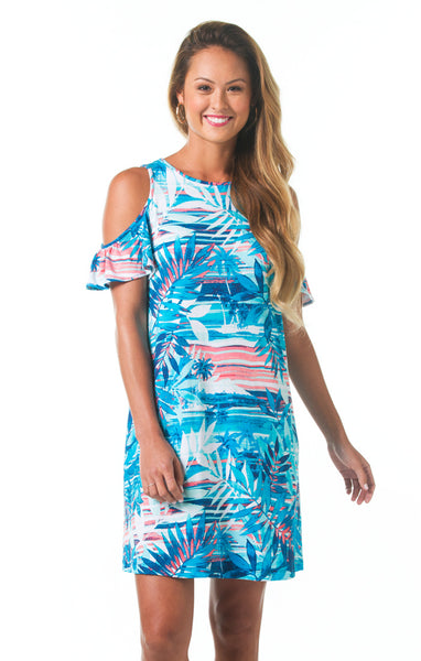 Tori Richard Blue Horizon Heather Dress - Ship Chic