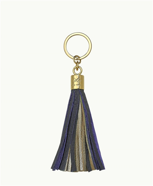 GiGi New York Tassel Key Chain - Navy and Gold - Ship Chic