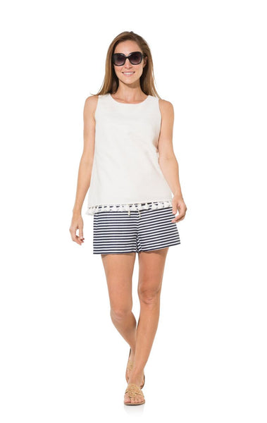 The Classic Stripe Linen Shorts