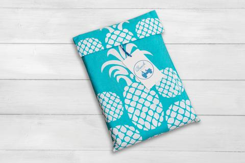 Beach Road Designs Pineapple Beach Sheet - Seafoam - Ship Chic