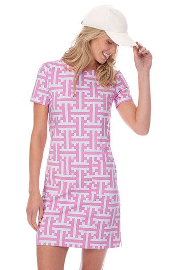 Persifor Carter Dress - Tile in Tulip - Ship Chic