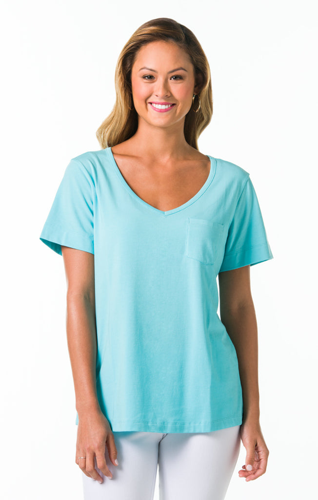 Pima Knits Ashley Top - Turquoise
