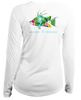 Ladies Tropical Hogfish L/S- Performance White