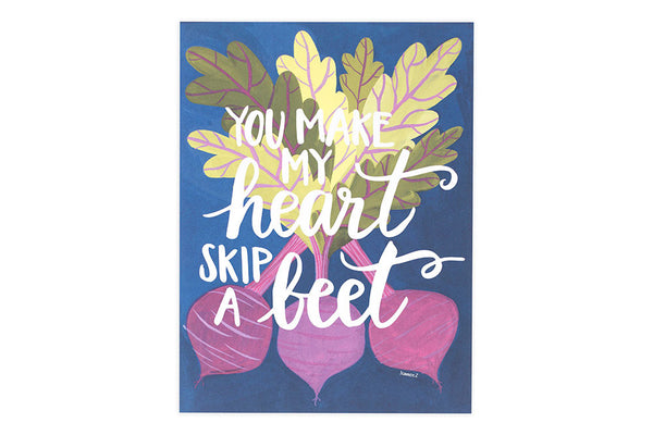 onecanoetwo 9x12 Print Heart Skip a Beet - Ship Chic