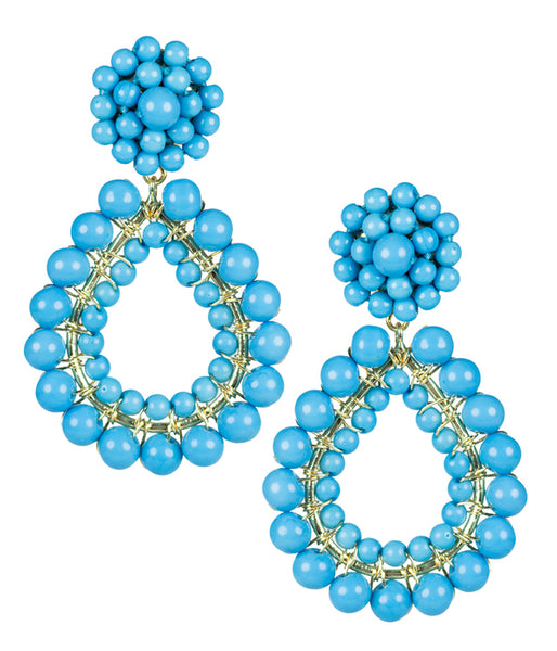 Lisi Lerch Margo Earrings - Turquoise - Ship Chic