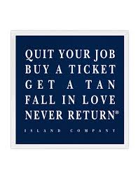 Island Company Quit Your Job sticker - Ship Chic