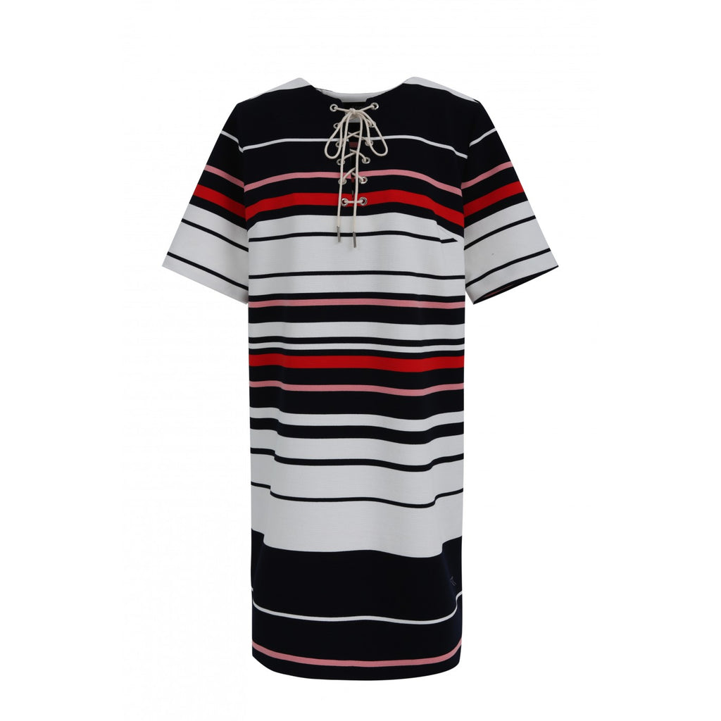 FRNCH Red & White Striped Shift Dress - Ship Chic