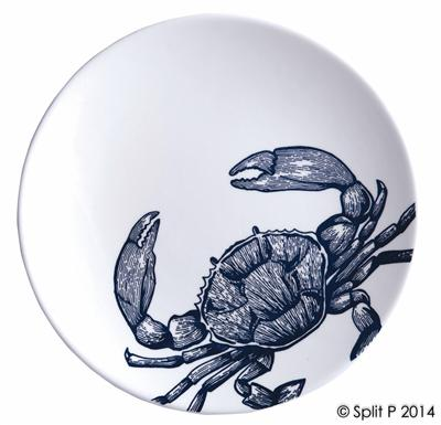 Split P Crab Salad Plate - Ship Chic