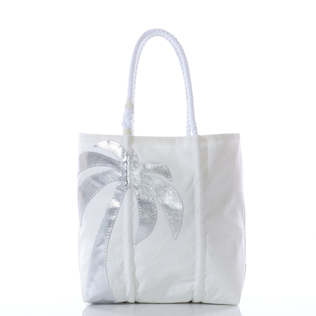 Seabags Medium Silver Palm Tree Tote - Ship Chic