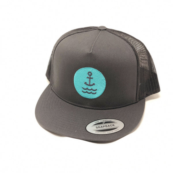 Ship Chic Ship Chic Anchor Trucker Seafoam Logo Charcoal - Ship Chic