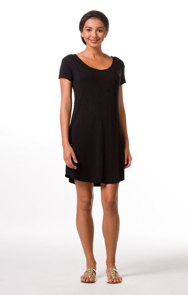Tori Richard Oceanside Solids Daisy Dress - Black - Ship Chic